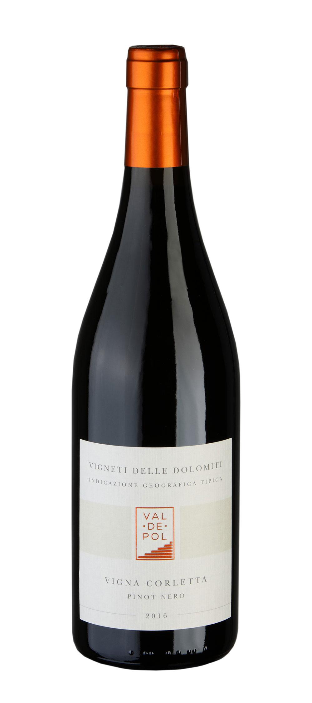 Bottiglia vino pinot nero Valdepol Vigna Corletta