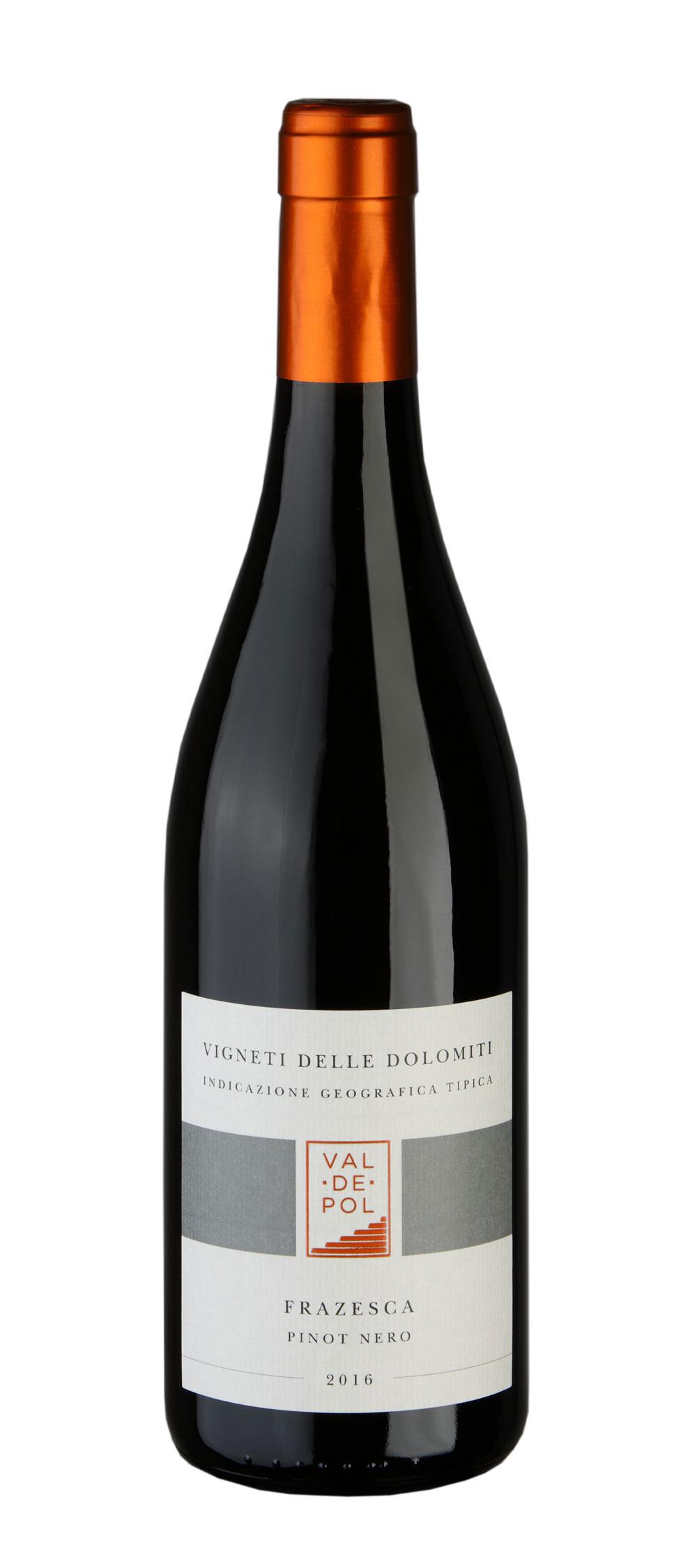 Bottiglia vino pinot nero Valdepol Frazesca